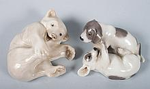 Two Royal Copenhagen porcelain animals