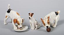Three Royal Doulton china dogs