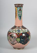 Japanese cloisonné enamel bottle vase