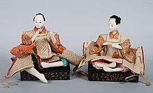 Two composition Japanese Samurai figures