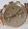 Swiss 18K two-dial chronograph wrist watch