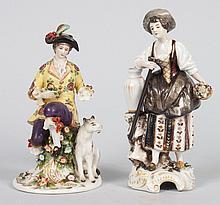 Two Hochst German porcelain figures