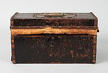 Victorian leather-bound wood box
