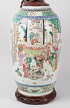 Chinese Export porcelain vase mounted as a lamp