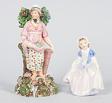 Clews figure and Royal Doulton figure