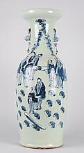 Chinese Export celadon porcelain vase
