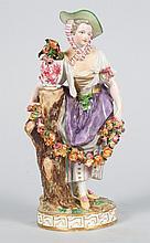 German porcelain flower gatherer