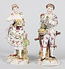 Pair of Richard Eckert & Co. porcelain figures