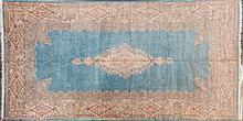 Kerman medallion carpet, 11.8 x 22.5