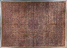 Semi-antique Lavar Kerman carpet, 13 x 17.10