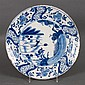 Dutch blue and white delftware plate