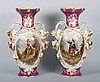 Pair of Porcelain de Paris vases