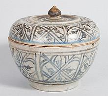 Chinese Ming blue and white porcelain box