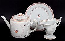 Three Chinese Export Famille Rose objects