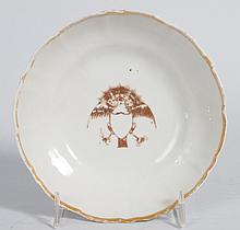 Chinese Export  American market porcelain saucer
