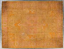 Antique Oushak carpet, approx. 9.4 x 12