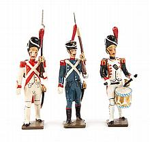 Five French Napoleonic lead figure sets