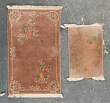 Two Antique Nichols Chinese rugs