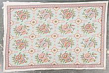 Cross-stitch rug, approx. 6 x 9