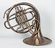 Nickel-plated French horn