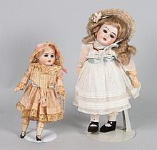 Two German bisque and composition dolls