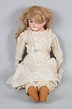 German bisque and cloth body doll