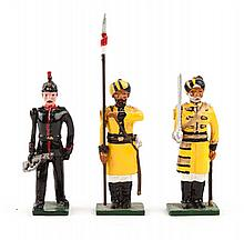 Three Marlborough figure sets