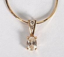 Lady's 14K gold & diamond necklace