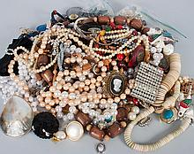 Bag of assorted costume jewelry