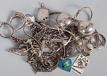 Fourteen assorted sterling silver jewelry items
