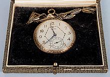 Illinois 14K gold filled hunting-case pocket watch