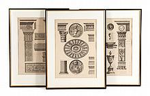 Three architectural engravings after Robert Adam