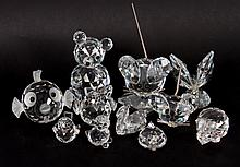 10 Swarovski crystal animals