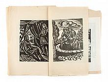 Attr. to Issac Friedlander.Seven unsigned woodcuts