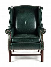 Ethan Allen Chippendale style wing chair