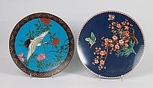 2 Chinese cloisonne enamel chargers