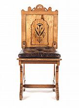 Victorian Arts & Crafts oak side chair