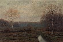 George W. Drew. Landscape, oil on canvas