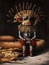 Carol Lee Thompson. Kachina Doll, oil on canvas