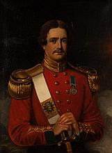 19th c. Portrait of a Soldier, oil on canvas