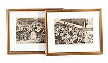 Two wood engravings after Winslow Homer