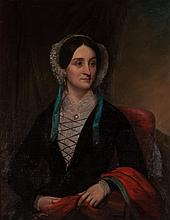 American School, 19th c. Portrait of a Lady, oil