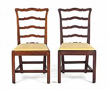 Pair of Federal ribbon-back chairs