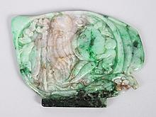 Chinese carved spinach jade plaque