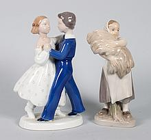 Two Danish porcelain figural groups