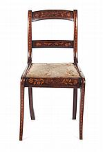 Dutch marquetry inlaid rosewood chair