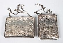 Two American sterling silver business/change cases