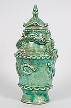 Chinese glazed earthenware jar
