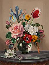 Alexander Wilson. Still Life with Flowers, oil