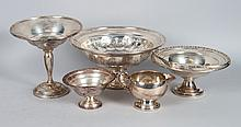 Five American weighted sterling table articles